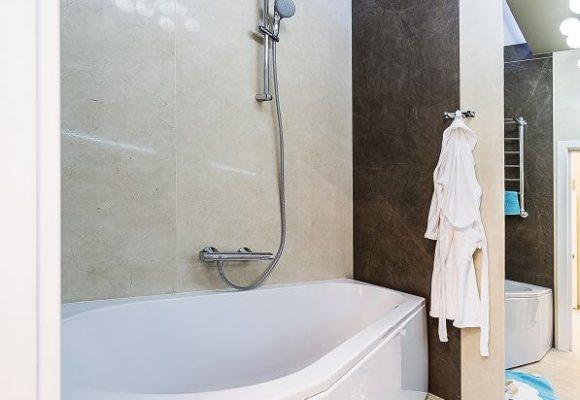 Ванная комната, 1 комнатная квартира в Москве, 38м²