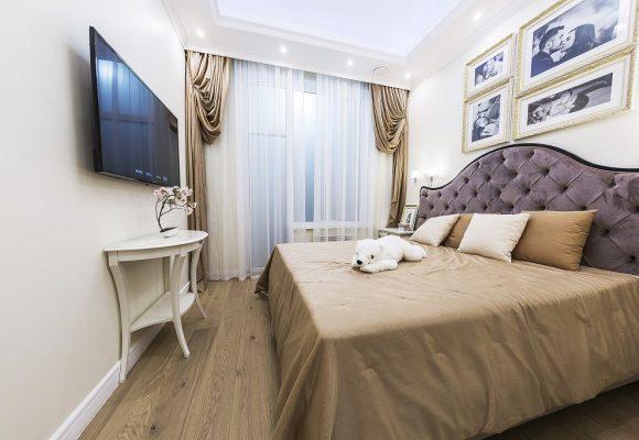 Спальня, 3-комнатная квартира в Москве, 84м²