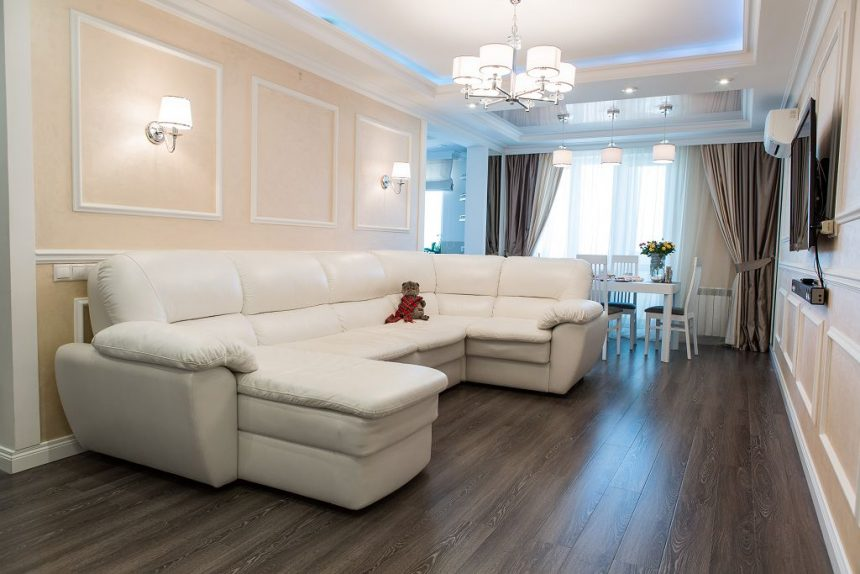 Гостиная, 3 комнатная квартира в Москве, 85м²