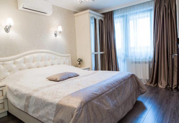 Спальня, 3 комнатная квартира в Москве, 85м²